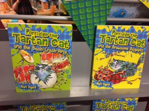 tartan cat, porridge, alan dapre, author, scotland, floris books, glasgow,