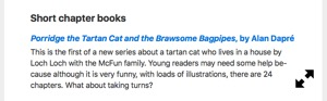 It is very funny - Suffolk Libraries Review of Brawsome Bagpipes by Alan Dapre